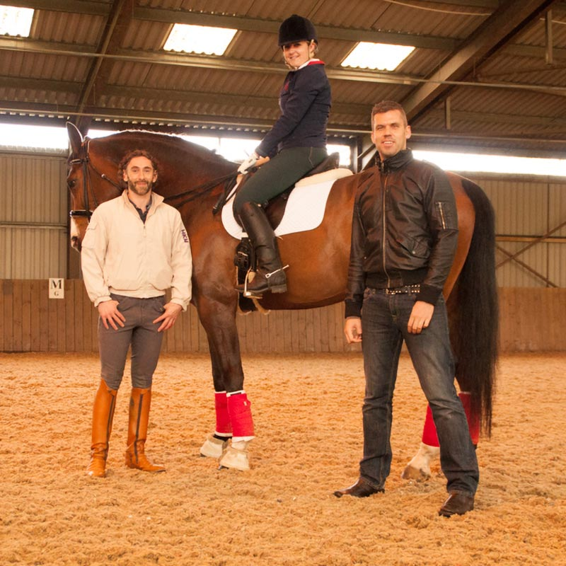 Nick Reeve with international dressage trainer and rider Robbie Carpenter